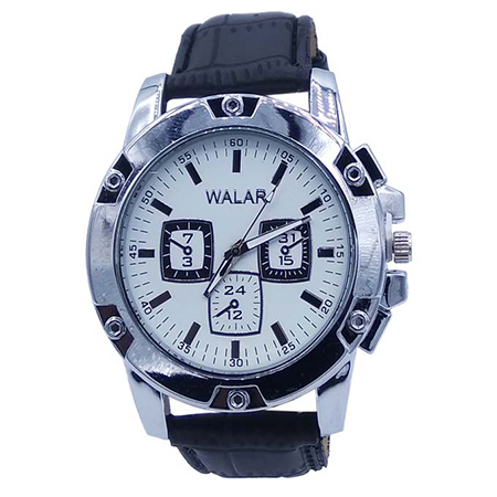 ساعت بند چرم مردانه WALAR